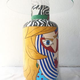 Geanina. Tavolino - bombola del gas. h 65 cm, Ø 60 cm. (2)