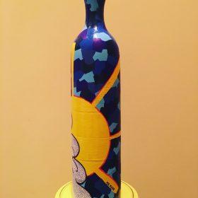 Senza titolo. Acrilico su bottiglia di ceramica. 2017 (1)