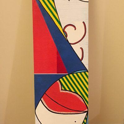 Senza titolo. Acrilico su tavola di legno. 130 cm x 25 cm. 2017.
