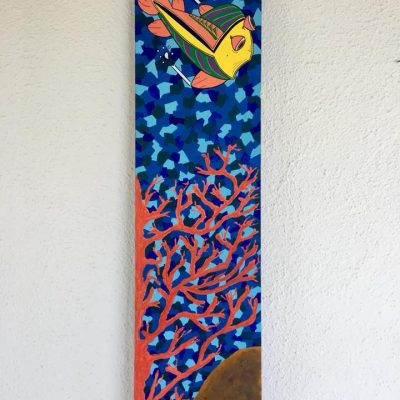 Senza titolo. Acrilico su tela. 120 cm x 30 cm. 2017.
