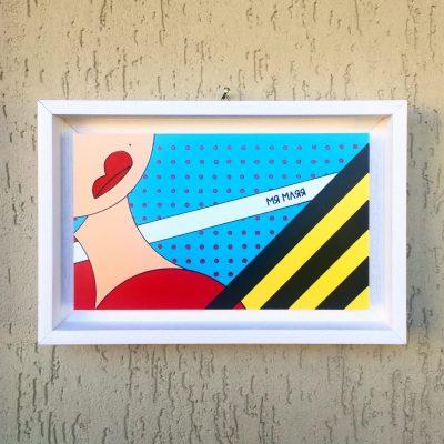 Senza titolo. Stampa su forex completa di cornice. 30.5 cm x 20 cm x 4.5 cm.